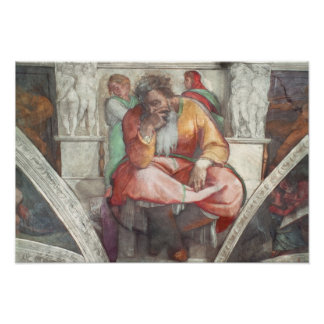 Sistine Chapel Ceiling: The Prophet Jeremiah Poster