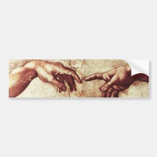 Sistine Chapel Creation of Adam Bumper Sticker