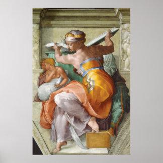 Sistine Chapel - Libyan Sybil Poster
