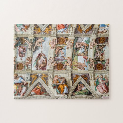 Sistine Chapel Michelangelo _ Vatican Rome Italy Jigsaw Puzzle