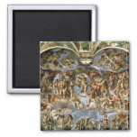 Sistine Chapel: The Last Judgement, 1538-41 2 Inch Square Magnet