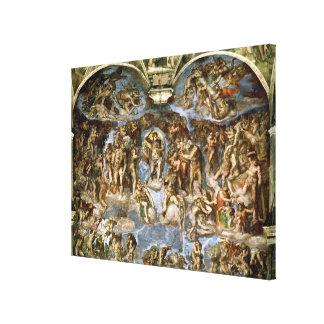 Sistine Chapel: The Last Judgement, 1538-41 Canvas Print