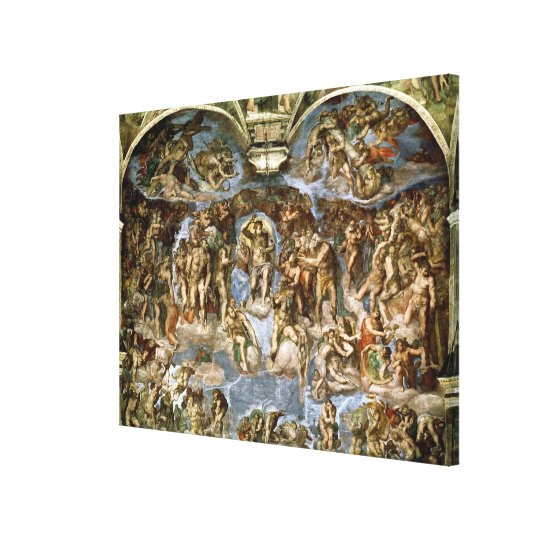 Sistine Chapel: The Last Judgement, 1538-41 Canvas Print