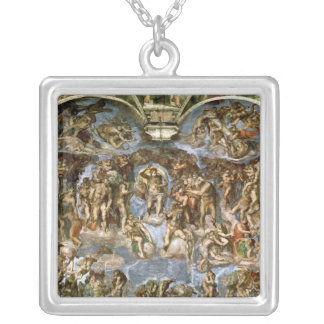 Sistine Chapel: The Last Judgement, 1538-41 Silver Plated Necklace