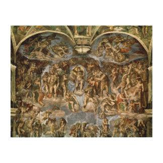 Sistine Chapel: The Last Judgement, 1538-41 Wood Wall Art