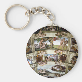 Sistine Chapel, Vatican, Rome, Italy Basic Round Button Keychain