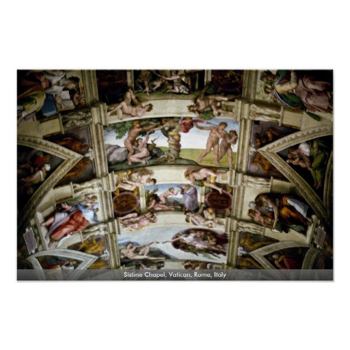 Sistine Chapel, Vatican, Rome, Italy Posters