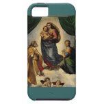 """""""Sistine clásico Madonna"""" de Raphael (circa 1513) Funda Para iPhone SE/5/5s"""
