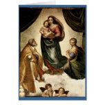 """""""Sistine clásico Madonna"""" de Raphael (circa 1513) Felicitación"""