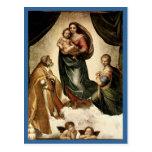 """Sistine clásico Madonna"" de Raphael (circa 1513) Tarjeta Postal"