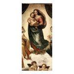 """""""Sistine clásico Madonna"""" de Raphael (circa 1513) Lona"""