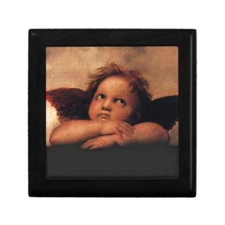 Sistine Madonna 2 ángeles por Raphael Cajas De Regalo