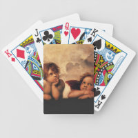 Sistine Madonna 2 Angels by Raphael Bicycle Playing Cards