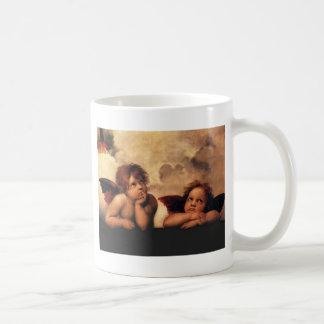 Sistine Madonna 2 Angels by Raphael Coffee Mug
