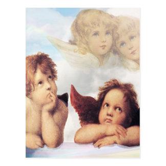 Sistine Madonna 2 Angels by Raphael Post Card