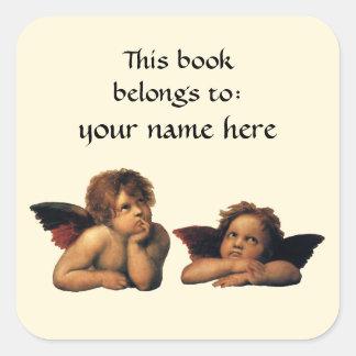 Sistine Madonna Angels by Raphael Bookplate