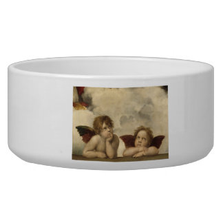Sistine Madonna Angels by Raphael Dog Food Bowls