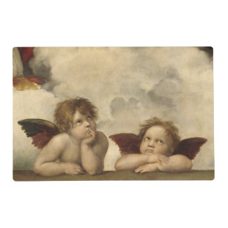 Sistine Madonna Angels by Raphael Laminated Place Mat