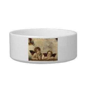 Sistine Madonna Angels by Raphael Pet Food Bowl