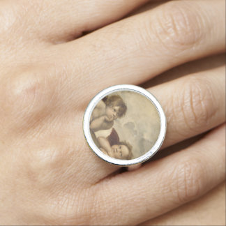 Sistine Madonna Angels by Raphael Photo Ring