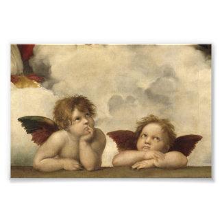 Sistine Madonna Angels by Raphael Photographic Print