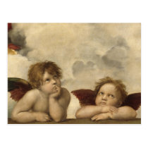 Sistine Madonna Angels by Raphael Postcard