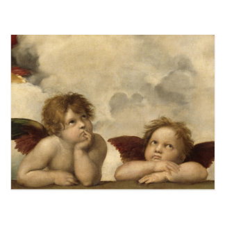 Sistine Madonna Angels by Raphael Postcard