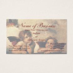 Sistine Madonna Angels By Raphael Raffaello Business Card at Zazzle