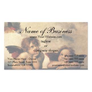 Sistine Madonna Angels by Raphael Raffaello Business Card