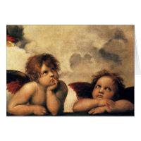 Sistine Madonna Angels by Raphael, Renaissance Art Cards