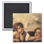 Sistine Madonna Angels by Raphael, Renaissance Art Magnet