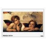 Sistine Madonna Angels by Raphael, Renaissance Art Wall Sticker