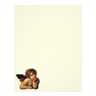 Sistine Madonna Angels by Raphael Sanzio Letterhead Template