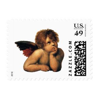 Sistine Madonna Angels by Raphael Sanzio Postage Stamp