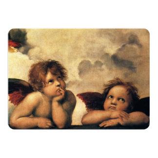 Sistine Madonna Angels by Raphael, Wedding Card