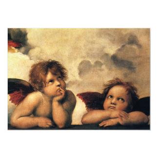 Sistine Madonna Angels by Raphael Wedding Card