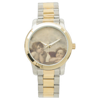 Sistine Madonna Angels by Raphael Wrist Watches