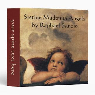 Sistine Madonna, Angels detail by Raphael 3 Ring Binder