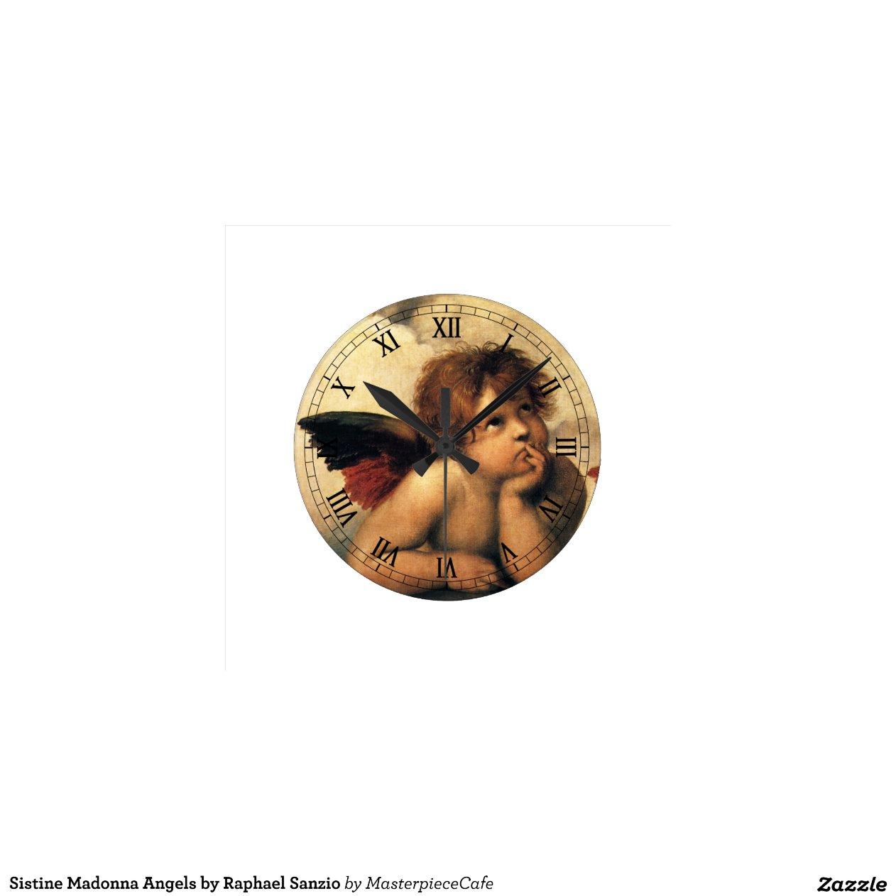 sistine madonna angels detail by raphael clock    Sistine Madonna Detail