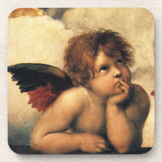 Sistine Madonna, Angels detail by Raphael Coaster