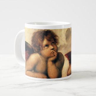 Sistine Madonna, Angels detail by Raphael Giant Coffee Mug