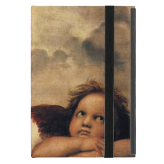 Sistine Madonna, Angels detail by Raphael iPad Mini Cover