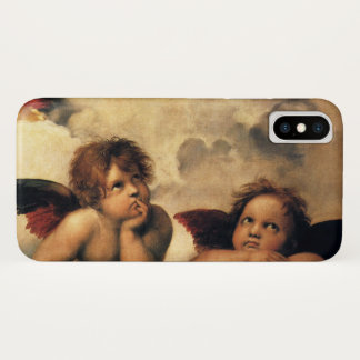 Sistine Madonna, Angels detail by Raphael iPhone X Case