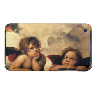 Sistine Madonna, Angels detail by Raphael iPod Touch Case