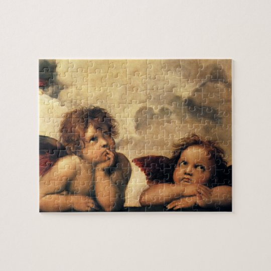 Sistine Madonna, Angels detail by Raphael Jigsaw Puzzle