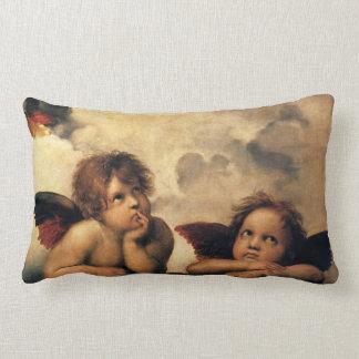 Sistine Madonna, Angels detail by Raphael Lumbar Pillow