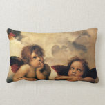 Sistine Madonna, Angels detail by Raphael Pillows