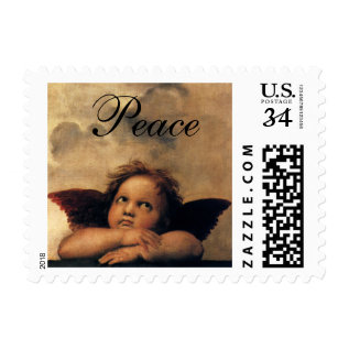 Sistine Madonna, Angels detail by Raphael Postage at Zazzle