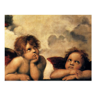 Sistine Madonna, Angels detail by Raphael Postcard