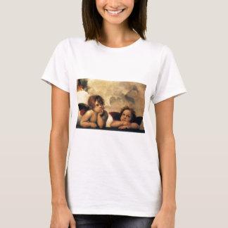 Sistine Madonna, Angels detail by Raphael T-Shirt